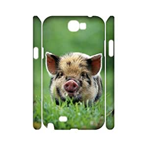 Cute Piglet Customized 3D Cover Case for Samsung Galaxy Note 2 N7100,custom phone case ygtg-796754