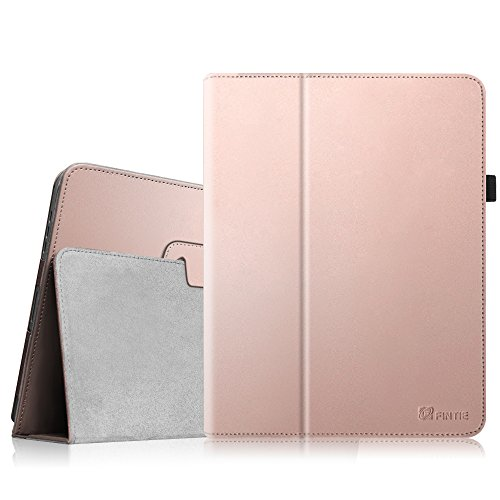 Fintie iPad 1 Folio Case - Slim Fit Vegan Leather Stand Cover with Stylus Holder for Apple iPad 1 1st Generation - Rose Gold