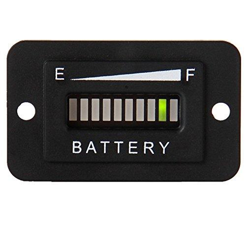 SEARON 36v Volt LED Battery Status Charge Indicator Meter Gauge for EZGO ClubCar Yamaha Golf Cart