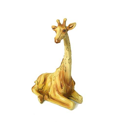 Animal Wildlife Collection Woodlike Sitting Giraffe -