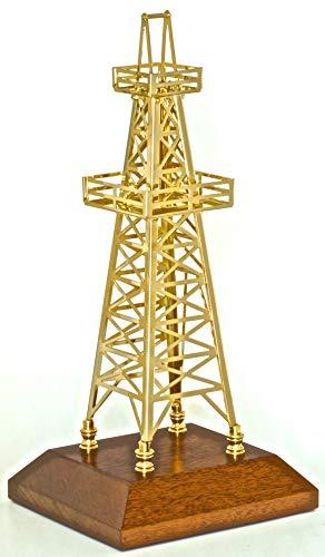 - Oilfield Gift Oil Derrick Drilling Rig Model Award Oilfield Office Decoration Gold