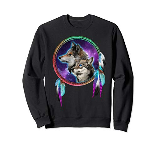 Animated Wolves Colorful Sweatshirt Wolf Tee Shirt Gifts ()