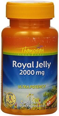 Thompson Royal Jelly, Ultra Potency, 2000 Mg, 60  Capsules
