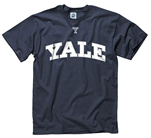 White Ivy Over T-shirt - Campus Colors Yale Bulldogs Icon and Arch Short Sleeve T-Shirt - Navy, X-Large