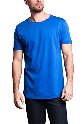 - Victorious Solid Color Long Length Curved Hem T-Shirt TS270 - Royal Blue - 3X-Large - A1B