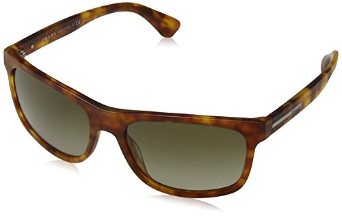 Havana Marrón Brushed Matte Sonnenbrille PLAQUE 15RS PR Prada Light Brown IH8Pxg