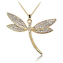 iLH® Clearance Necklace,ZYooh Women Fashion Dragonfly Crystal Necklace Long Sweater Chain Romantic Jewelry Gift