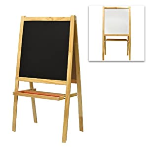 Amazon Com Children S Free Standing Wood Chalkboard Easel