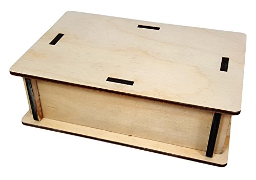 Guitar Effects Pedal Wooden Box Enclosure Kit - 4 x 6 x 2-inch. - Easy to Assemble!