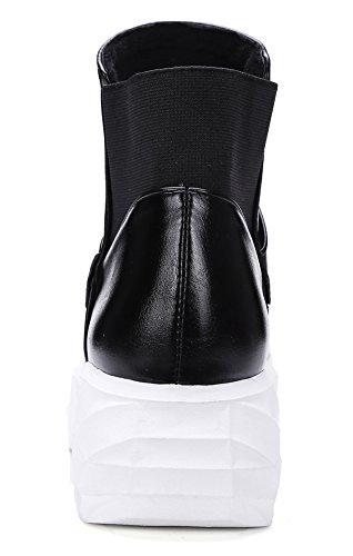 Comfortabele Damesschoenen Van Idifu Voor Dames, Enkellaarzen Met Hakken Zwart