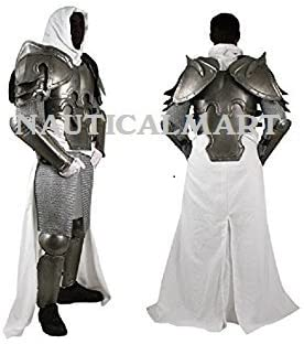 Nauticalmart Plate Armour Conquest Warcrafted Half Suit Of Armor Silver One Size Amazon Co Uk Toys Games It does not include leg protection beyond simple greaves that are attached with leather straps. nauticalmart plate armour conquest warcrafted half suit of armor silver one size