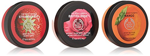 The Body Shop Fruity Body Butters Trio Spinner Gift Set, 3pc Set of Travel Size Assorted Body ()