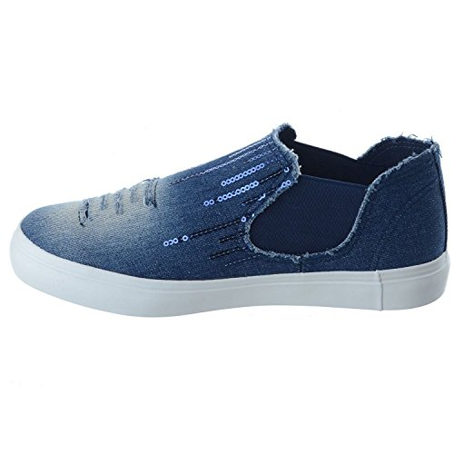 SheLikes , Damen Sneaker Dark Blue/Sequins