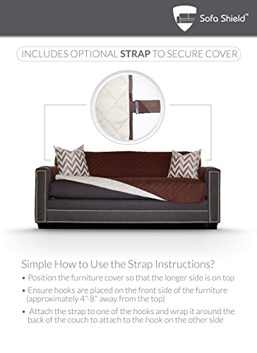 The Original Sofa Shield Reversible Couch Slipcover Furniture
