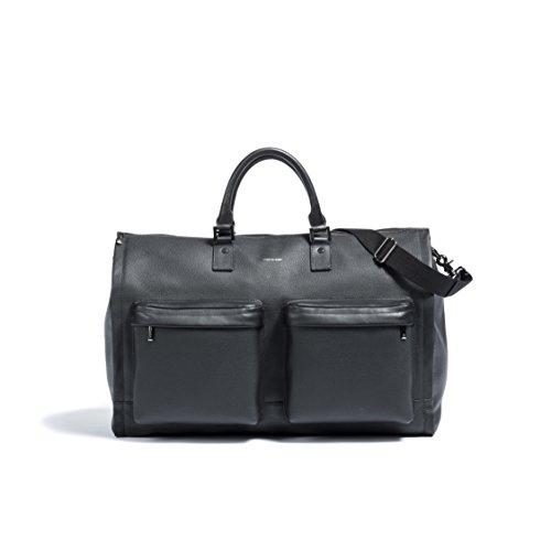 Hook & Albert Leather Garment Weekender Bag (BLACK) by HOOK & ALBERT
