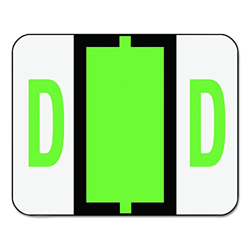 Smead BCCR Bar-Style Alphabetic Color-Coded Labels, Letter D, Light Green, 500 Labels per Roll (67074)
