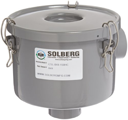 Solberg CSL-849-150HC Inlet Filter, 1-1/2'' FPT Inlet/Outlet, 6-3/4'' Height, 7-5/16'' Diameter, 80 SCFM by Solberg