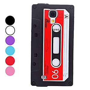 Compact Cassette Design Soft Case for Samsung Galaxy S4 I9500 (Assorted Colors) --- COLOR:Purple