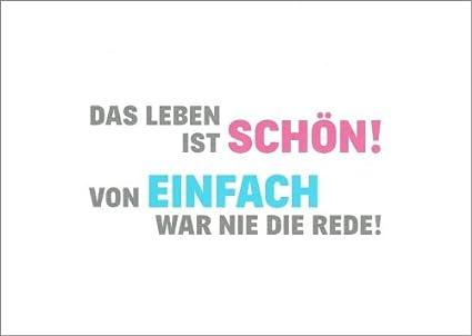 5er Packung Postkarte Sprüche Humordas Leben Ist Schön