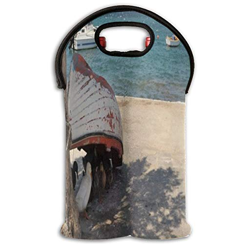 Wine Bag Ducks Siesta Timr Noon Time Hot Summer Ducks 2 Bottle Red Wine Tote Bag Insulated Padded Champagne Carrier Bag (Siesta Water Picnic Time)