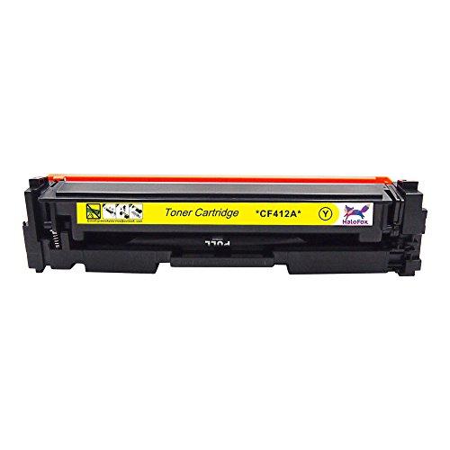 HaloFox 1 Set Toner Cartridges Compatible For 410A Toner CF410A CF411A CF412A CF413A For Color LaserJet Pro M452nw M452dw M452dn MFP M477fdn M477fnw M477fdw Printer (4Pcs, Black Cyan Yellow Magenta) Photo #6