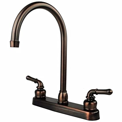 Amazon oil rubbed bronze rv mobile motor home kitchen sink oil rubbed bronze rv mobile motor home kitchen sink faucet 145quot tall spout workwithnaturefo