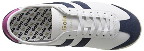 Fashion Women's Navy Leather Suede Bullet White Gola Sneaker gzwvFqqx