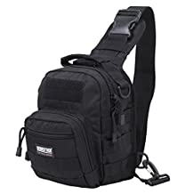 Seibertron Tactical Outlaw Sling Pack with Shoulder Sling for Everyday Carry Molle Multifunctional Day Bag for Carrying Concealed Weapon