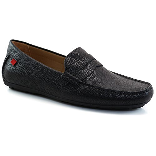 Marc Joseph NY Men's Fashion Shoes Union Street Black Grainy Penny Loafer Size 12 (More Size/Colors Available) - Black Calf Loafer Shoes