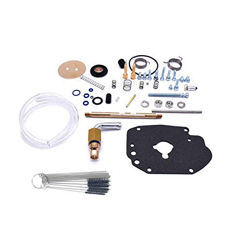 (Karbay Carburetor Repair Kit For S&S Master Rebuild Kit Carb Rebuild Set Fit Super E Carburetor with Carb Nylon Tube Brush Cleaning Set)