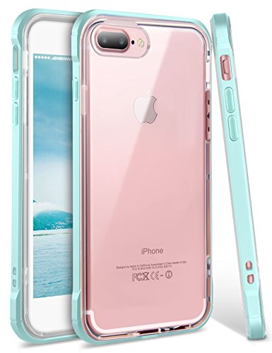 iPhone 8 Plus Case, iPhone 7 Plus Case, Ansiwee Shockproof Armor iPhone 7 Plus Protective Defender Impact Resistant Slim Fit Rubber Bumper Case Cover for Apple iPhone 7 Plus /8 Plus 5.5 (Light Blue)