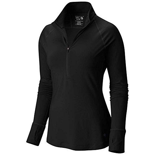 Mountain Hardwear Women's Microchill Lite 1/2 Zip T-Shirt, Black, M - Lite Zip Tee