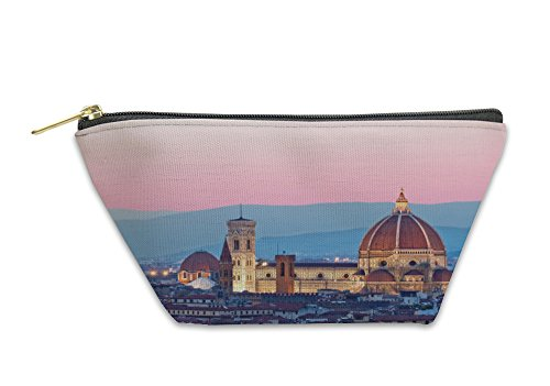 Gear New Accessory Zipper Pouch, Florence Duomo In The Evening Pink Sunlight, Small, - Duomo 1 Light