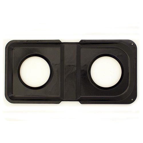 Range Kleen P501 Black Porcelain Rectangular Gas Stove Drip Pan, 16.875 x 8.125-Inches