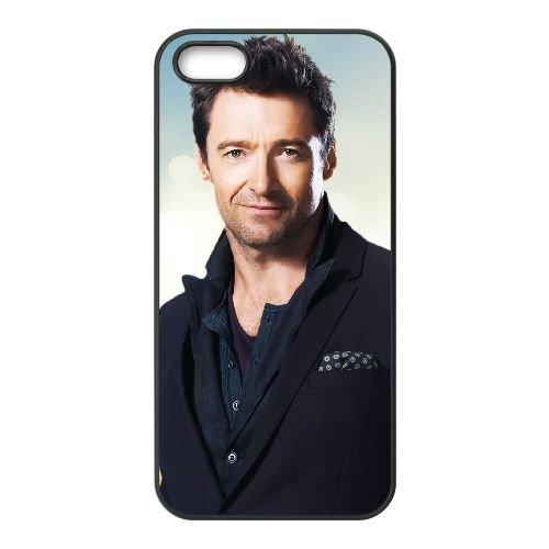 Hugh Jackman 001 coque iPhone 4 4S cellulaire cas coque de téléphone cas téléphone cellulaire noir couvercle EEEXLKNBC25826