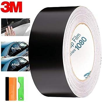 EZAUTOWRAP Free Tool Kit 3M 1080 Satin Black Vinyl Wrap Kit for Black Out Chrome Delete Window Trim Door Trim 2