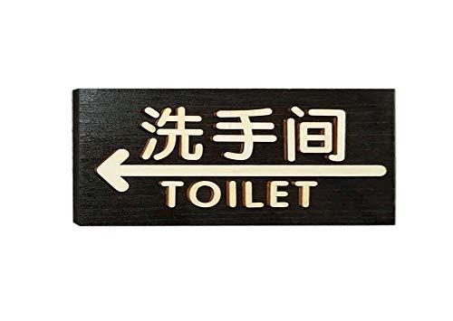 PandaLegends [Apuntando a la izqu] Panel de señalización Signo Creativo Placa de Puerta Señal de Advertencia Señal de...