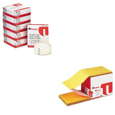 KITUNV15874UNV83410 - Value Kit - Universal Multicolor Paper (UNV15874) and Universal Invisible Tape (UNV83410) by Universal