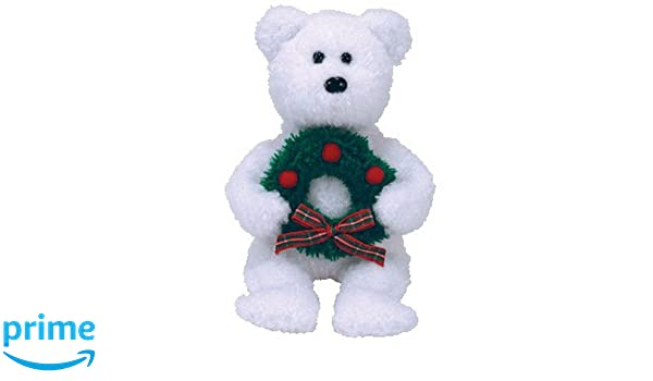 7f32b956f92 Amazon.com  TY Beanie Baby - MERRIMENT the Bear (BBOM December 2006) (8.5  inch) - MWMTs PRS  Toys   Games