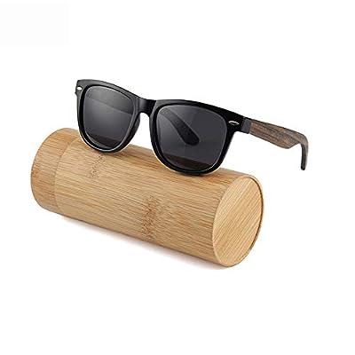 FeliciaJuan Aviators Style Wooden Glasses Polarized for Men and Women Blocking 100% UV