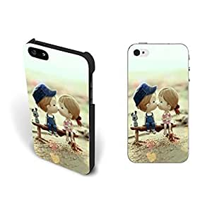 Cute Little Love Couple Kissing Heart Iphone 5 Case Cover Pastel Dog Animal Print Hard Plastic Iphone 5s Case Skin Screen Protector