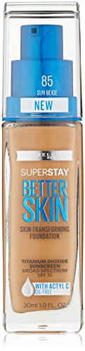 Maybelline New York Superstay Better Skin Foundation, Sun Beige, 1 Fluid Ounce