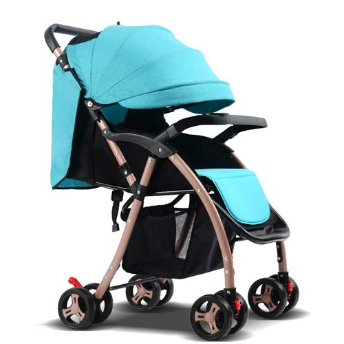 Dwhui Babywagen Portable Zwei-Wege-Klappsitz Hoch Landschaft Kinderwagen Kinderwagen Four Seasons Universal Klappwagen