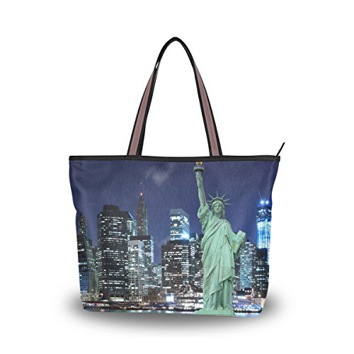 Patern Ladies Bags Handle Statue Large Tote New Women Handbag York Top City Of Liberty Shoulder JSTEL qapx6OwyWB