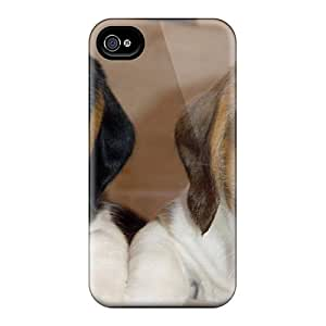 JENipper Iphone 4/4s Hybrid Tpu Case Cover Silicon Bumper Beagle