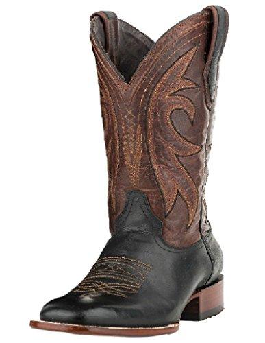 Stetson Mens 12-020-6104-0113 Botte De Cowboy Noir Marron