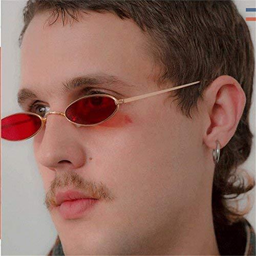 sol gafas color Gafas dorado y rojas hombres pequeñas gafas y mujer diseño redondas rojo de sol para para retro de de sol ovaladas qwq0Hz