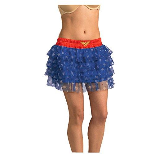 MyPartyShirt Wonder Woman Sequin Skirt-Womens