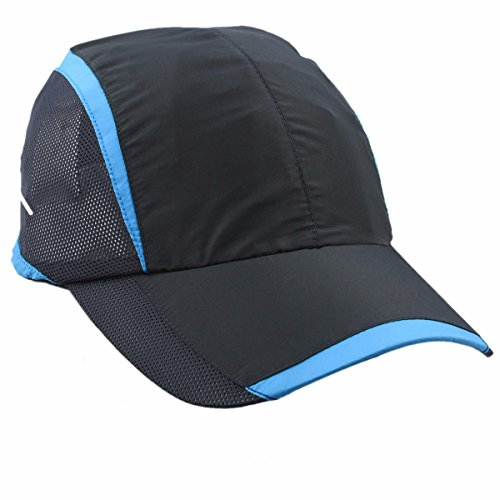 Womens Belted Cap - squaregarden Baseball Cap Hat,Running Golf Caps Sports Sun Hats Quick Dry Lightweight Ultra Thin,02-Black,One Size