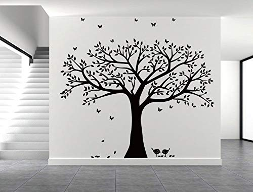 LSKOO Family Photo Frame Tree Wall Decals Family Tree Decal Living Room Home Decor (108'' Wide x 84'' Tall) (Black) by LSKOO (Image #3)